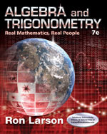 Algebra and Trigonometry: Real Math, Real People 7e by Ron Larson