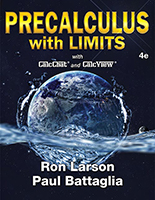 Precalc with Limits 4e by Ron Larson and Paul Battaglia