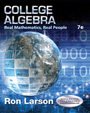 College Algebra Real Mathematics Real People 7e